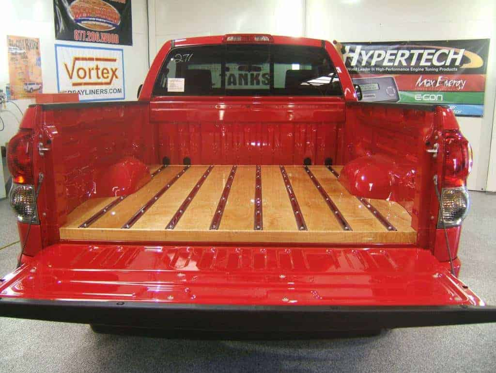 bed wood truck