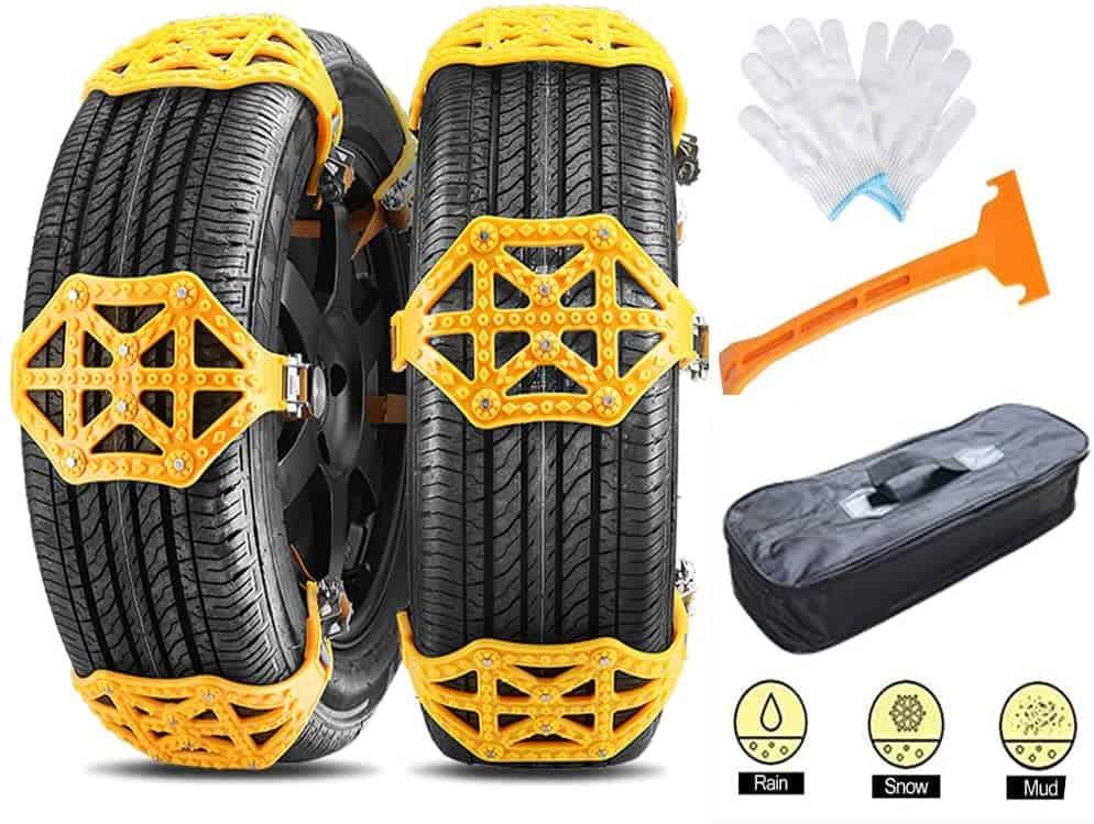 AUTOGO Anti-skid 8 Tire Chain Sets
